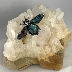 Abalone Shell Bee Pin Brooch